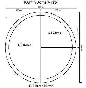 Quarter Dome Mirrors