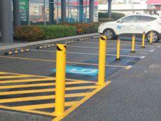 Disabled Parking Shared Area Bollard Installs