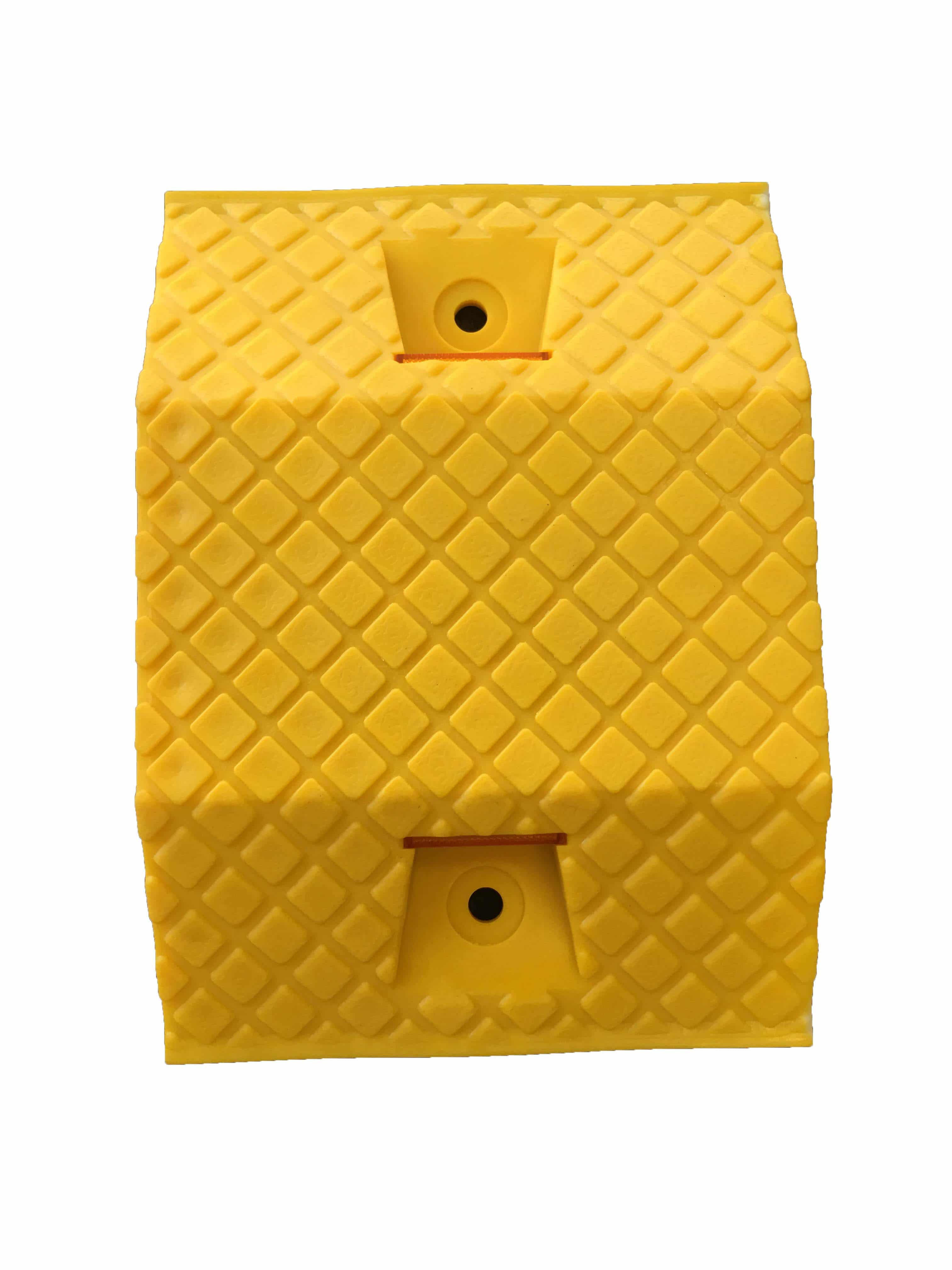 350mm Plastic Speed Hump Middle Yellow The Bollard Shop