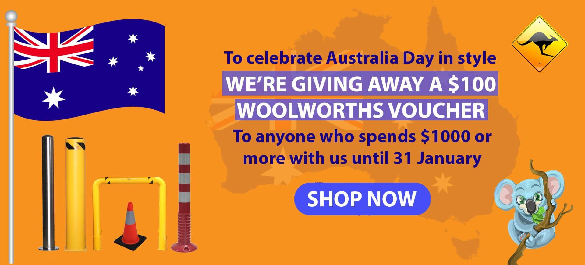 Bollard Shop Australia Day Promotion